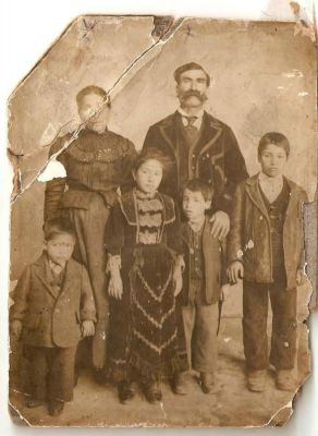 Click to view full size image  ==============  Pietro Roseti  My Great-Great Grandfather Pietro, Great-Great Grandmother Anna Maria Gatto, Great Uncles Salvatore & Francesco & my Great Grandfather Carmine also their sister (no one knows her name)